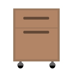 office cabinet drawers vector image