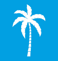 Palm tree icon white vector