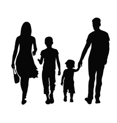 parents and children vector image