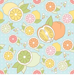 seamless pattern with citrus vector image vector image