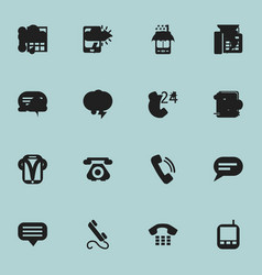 Set of 16 editable phone icons includes symbols vector
