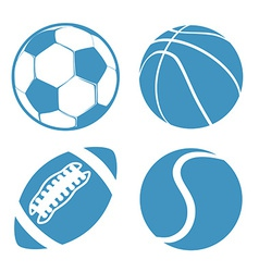 Set of Sports balls Soccer Basketball American vector image