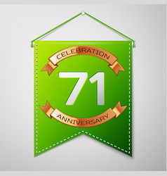 Seventy one years anniversary celebration design vector