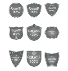 Shields set elements for design vector image