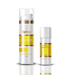 Spray serum cosmetics realistic mock up hydration vector