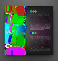 Squared Colorful Abstract Background vector image vector image
