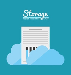 Storage center design vector
