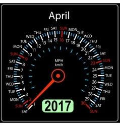 year 2017 calendar speedometer car in vector image vector image