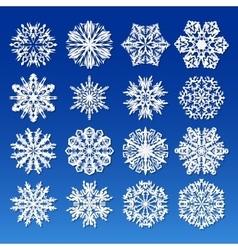 Big snowflakes set for winter and christmas theme vector