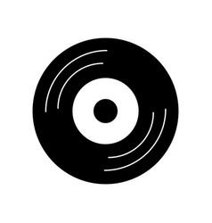 vinyl old music icon vector image