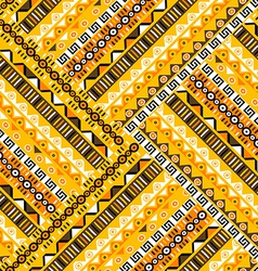 Geometric tribal pattern vector image
