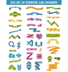 Set of labels stickers and ribbons vector