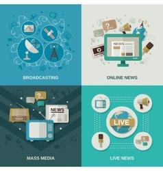 Media Design Concept vector image