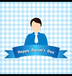 Creative national doctors day greeting vector