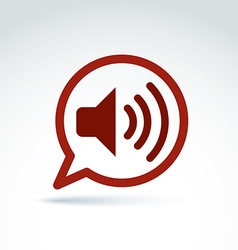 Speech bubble with loudspeaker sign broadcast icon vector image