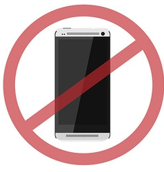 No smartphone vector