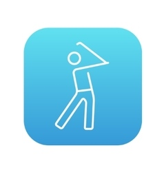 Golfer line icon vector