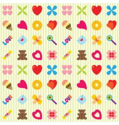 valentin pattern vector image