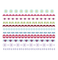 Set of decorative lines borders dividers vector