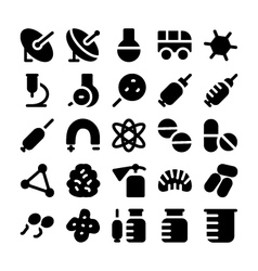 Science icons 8 vector