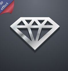 Diamond icon symbol 3d style trendy modern design vector