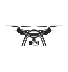 drone quadrocopter flat sign vector image