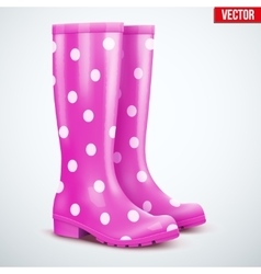 Pair of violet rain boots vector