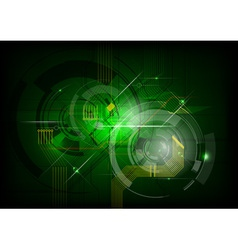 abstract electric on the green background vector image vector image