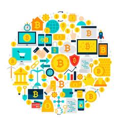 Bitcoin icons circle vector