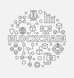 Blockchain technology round vector