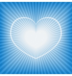 blue background with heart vector image vector image