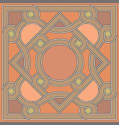 Byzantine decorative rosette vector