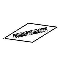 Customer information rubber stamp vector