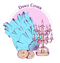 Dance line color belly dance accessories vector