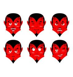 Emotions devil Set expressions avatar Satan Red vector image vector image