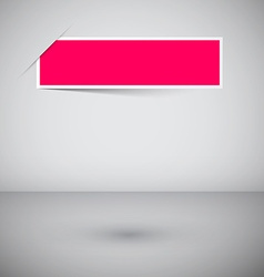 Empty Frame Template - Pink Label on Abstract 3d vector image