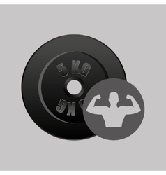 Fitness silhouette dumbbell gym graphic vector