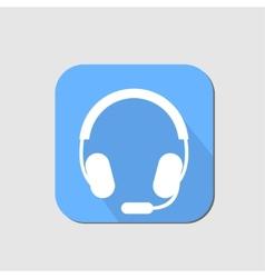 Headset flat icon vector