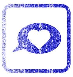 Love message balloon framed textured icon vector