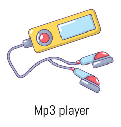 mp3 player icon cartoon style vector image