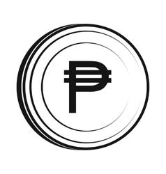 Peso icon simple style vector