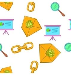 Promotion pattern cartoon style vector