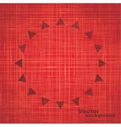 Red grunge sun background vector