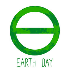 symbol of earth day vector image