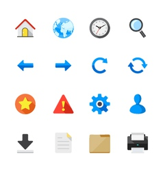 Toolbar Icons for Application and website vector image