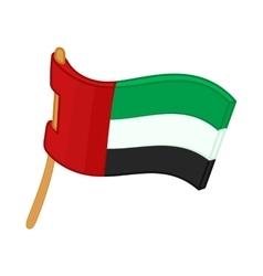 United Arab Emirates flag icon cartoon style vector image vector image