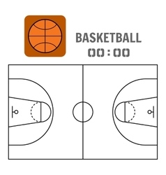 Basketball court and the plan field sports ball vector