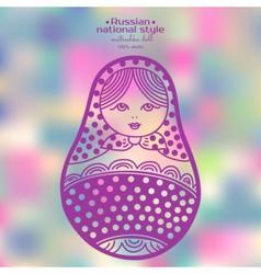 Russian matryoshka dolls vector image