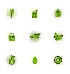 Environment icons set pop-art style vector