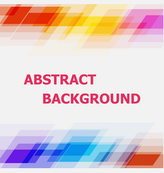 abstract geometric overlapping colorful background vector image
